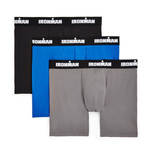 IRONMAN Performance Stretch Boxer Brief - 3 Pack