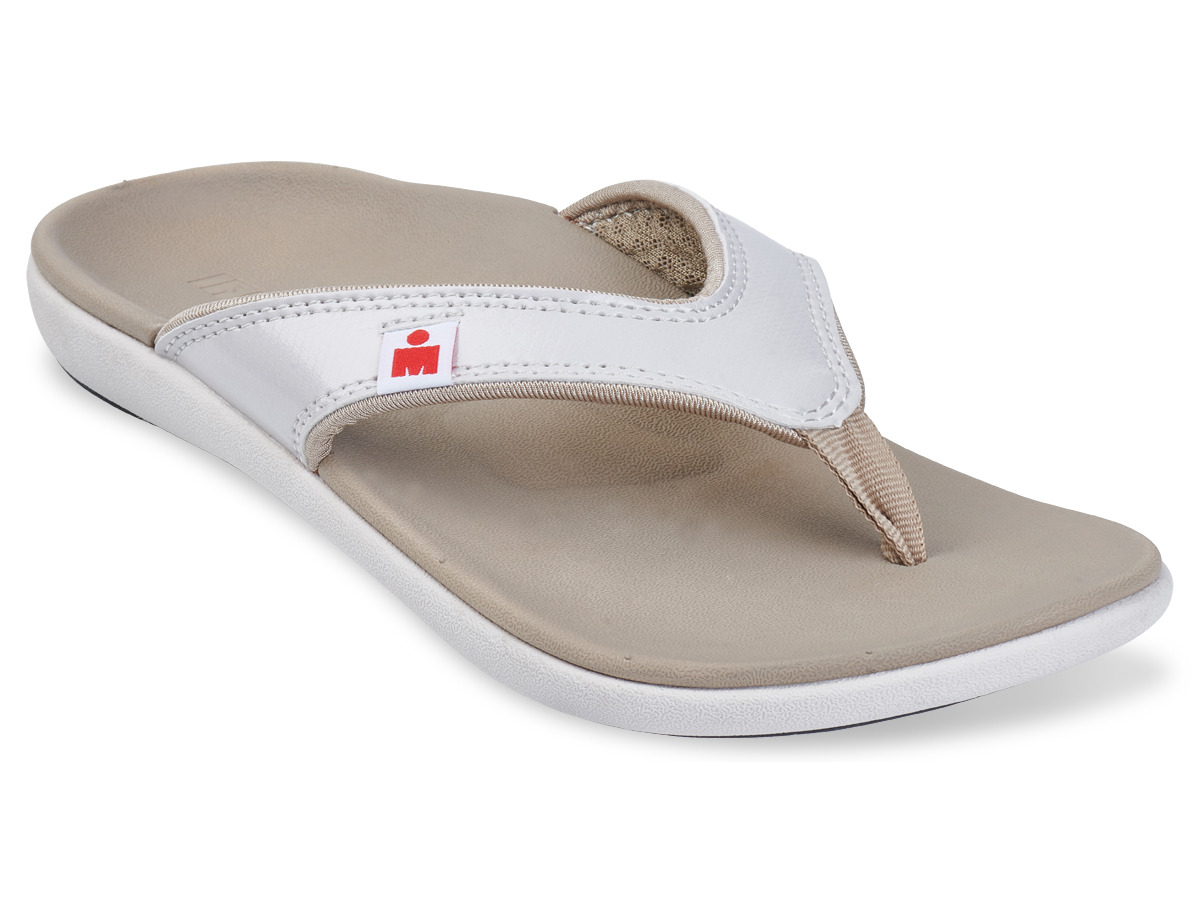 IRONMAN Women's HOA Sandals - Taupe with White