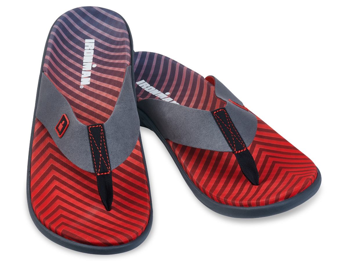 IRONMAN Men's KUMUSandals - Carbon with Rosso