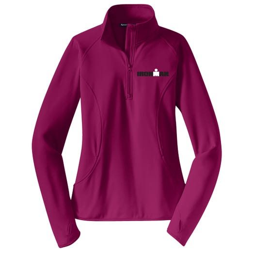 IRONMAN WOMEN'S SPORT FLEECE HALF ZIP