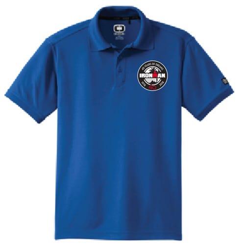 IRONMAN 40th Anniversary Men's Badge Polo- Blue