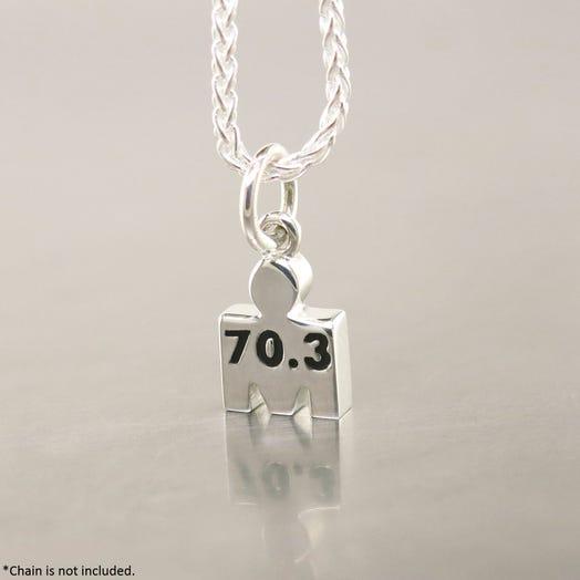 IRONMAN True Sterling Silver M-DOT 7.5mm 70.3 Pendant