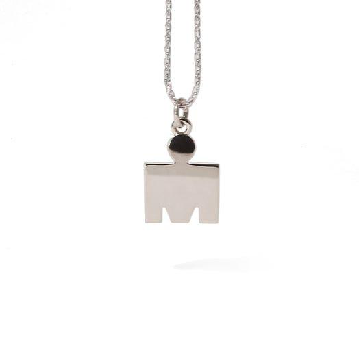 IRONMAN 14KT White Gold M-Dot Pendant