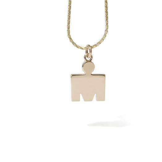 IRONMAN M-Dot 14KT Gold 15.3mm Pendant