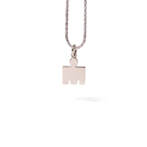 IRONMAN M-Dot 14KT White Gold 10.9mm Pendant
