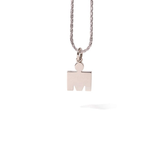 IRONMAN 14KT White Gold M-DOT 10.9mm Pendant