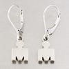 IRONMAN True Sterling Silver M-DOT Leverback Earrings