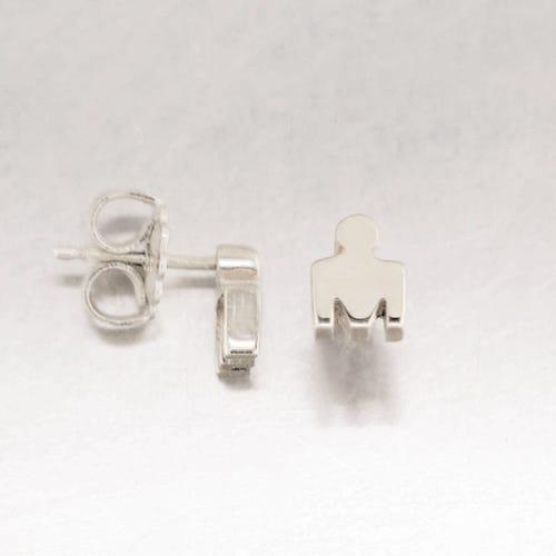 IRONMAN True Sterling Silver M-DOT Stud Earrings