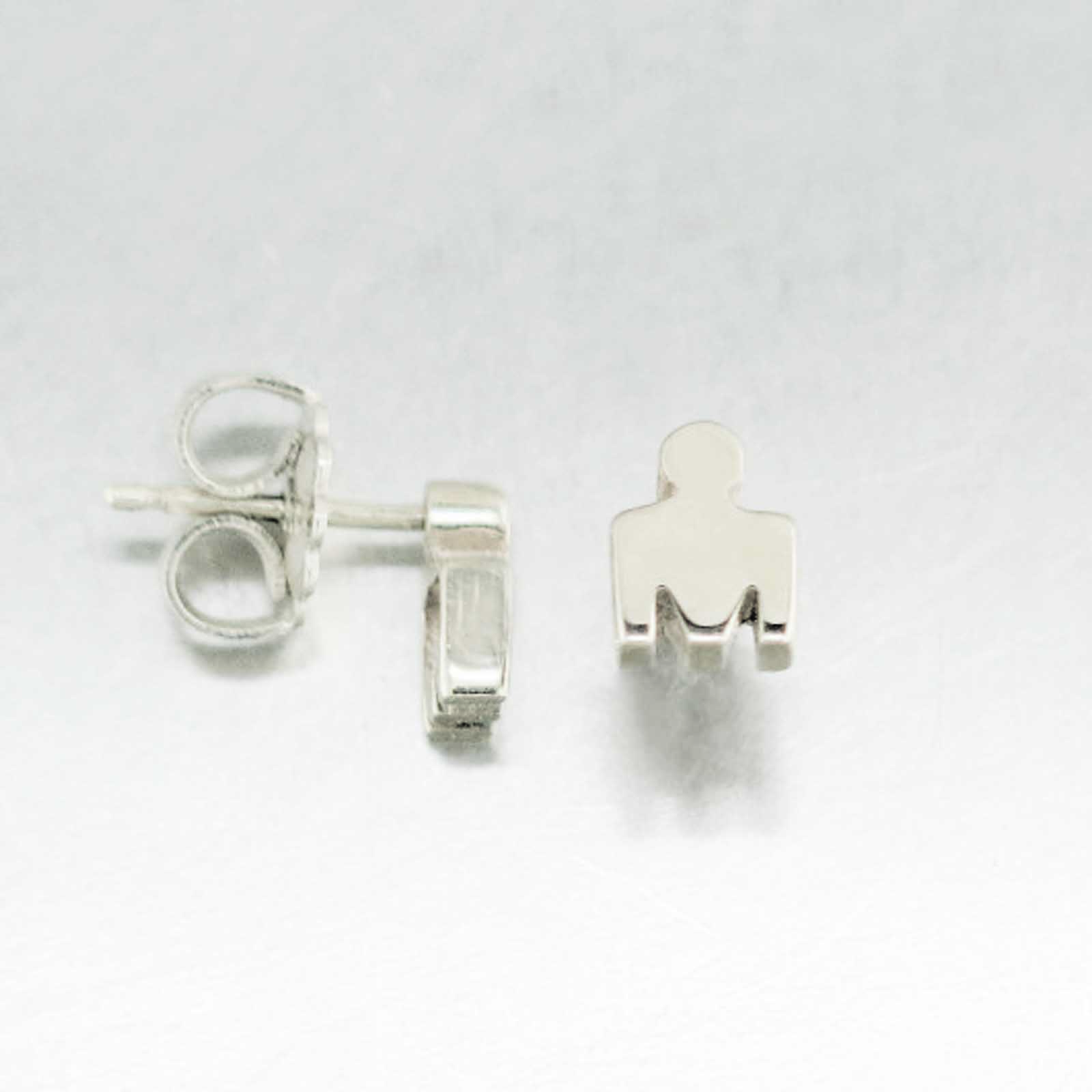 IRONMAN True Sterling Silver M-DOT Stud Earrings