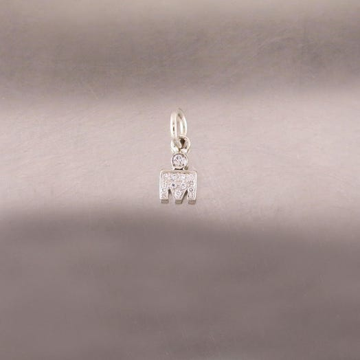 IRONMAN M-DOT WHITE GOLD PENDANT WITH DIAMONDS