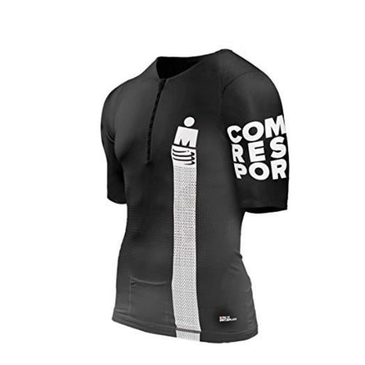 IRONMAN CompresSport Men's TR3 Aero Smart Top - Black