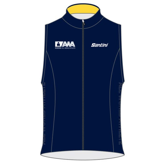 IRONMAN SANTINI MEN'S GOLD ALL WORLD ATHLETE CYCLE VEST