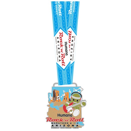ROCK N ROLL MARATHON SERIES ARIZONA 2019 EVENT MINI MEDAL PIN