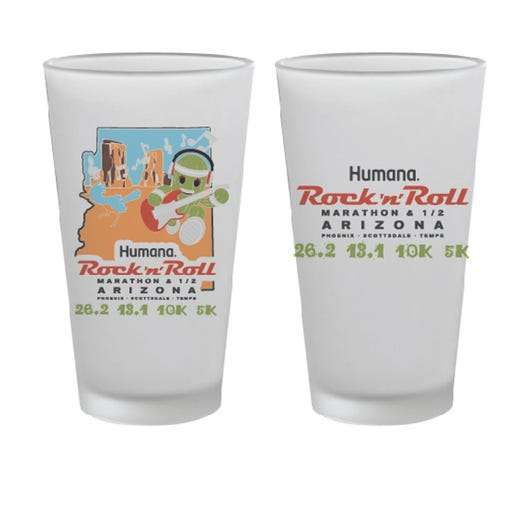 ROCK N ROLL MARATHON SERIES ARIZONA 2019 EVENT PINT GLASS