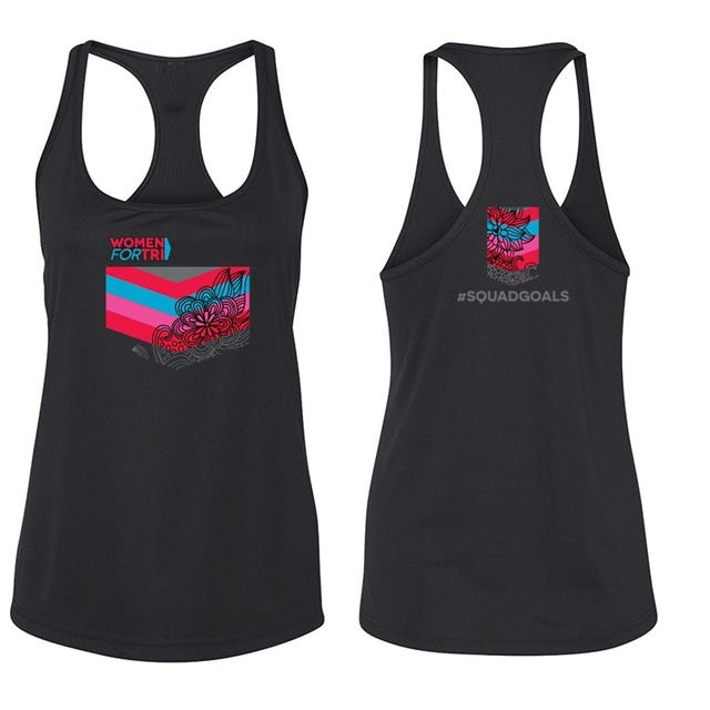 IRONMAN Women For Tri Petal Performance Tank- Black