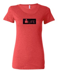 IRONMAN Women's MDOT Life Tee - Red
