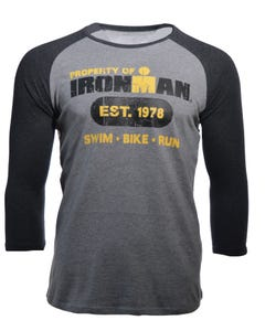 IRONMAN Men's Est.'78 Long Sleeve Tee - Heather Grey