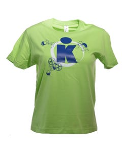 IRONKIDS K-DOT Badge Kids' Tee - Lime Green