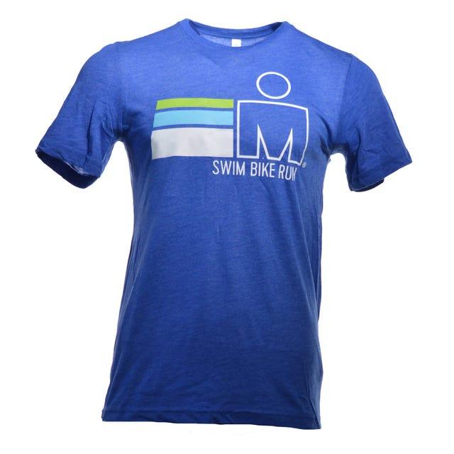 M-Dot SWIM BIKE RUN Men's Tee - Blue