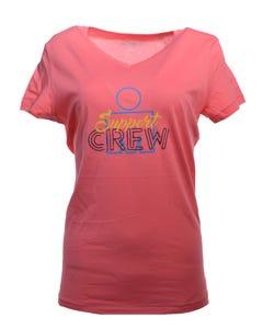 IRONMAN Support Crew M-Dot Women's Tee - Pink