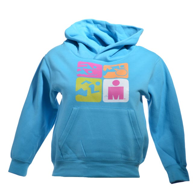 Ironman Support Crew Kids' Hoodie - Turquoise