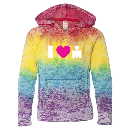 IRONMAN GIRL'S I HEART GRAPHIC PULLOVER HOOD
