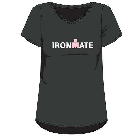 IRONMAN WOMEN'S IRONMATE TEE-BLACK