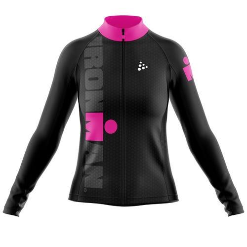 IRONMAN CRAFT Women's Cycle Jacket- Black/Pink