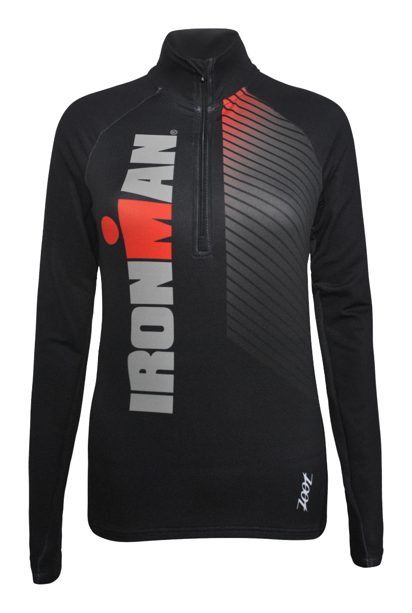 IRONMAN Zoot Women's Dawn Patrol Half Zip - Race Stripe Black