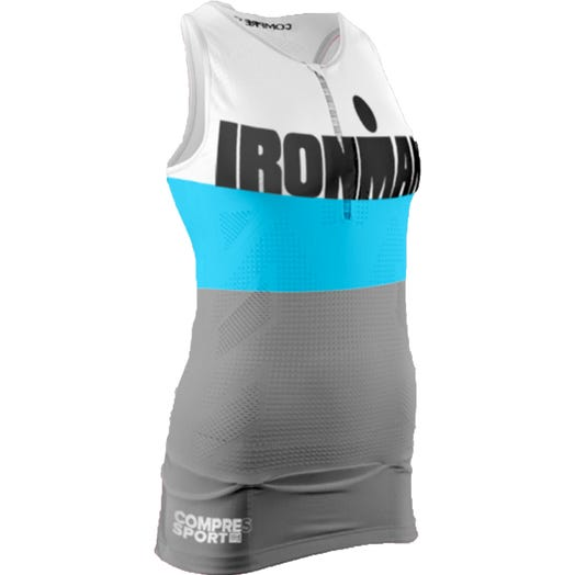 IRONMAN CompresSport TR3 Compression TANK Women's - Gray