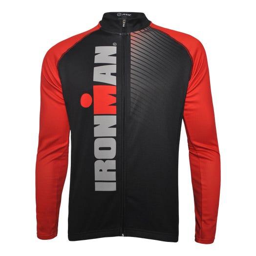 IRONMAN Zoot Men's Cycle Long Sleeve Top - Race Stripe Black