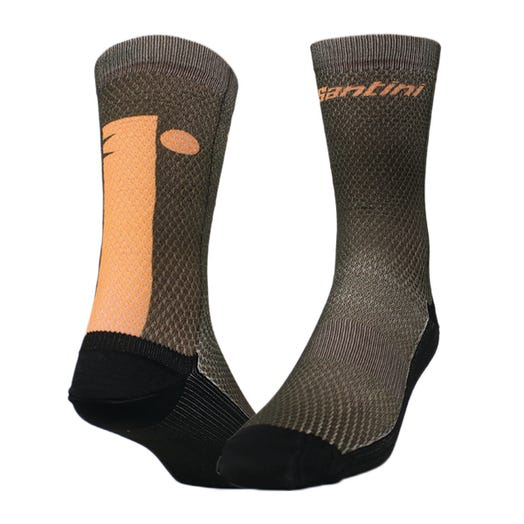 IRONMAN SANTINI MEN'S MUTED CYCLE SOCKS