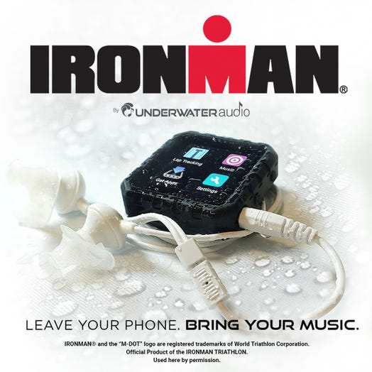IRONMAN by Underwater Audio Delphin Waterproof Streaming Media Player Sport Bundle