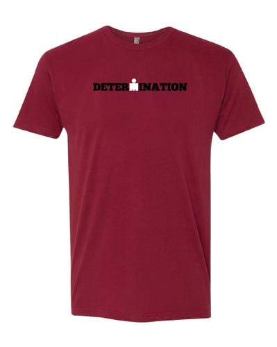 IRONMAN MEN'S DETERMINATION TEE CARDINAL