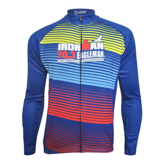 IRONMAN 70.3 EAGLEMAN MEN'S THERMO FINISHER CYCLE JERSEY