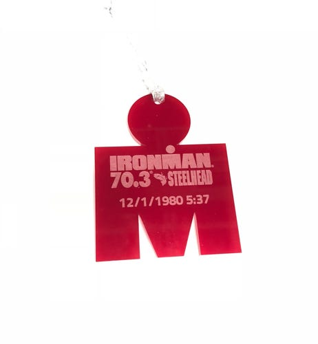 IRONMAN 70.3  M-DOT Personalized Race Ornament