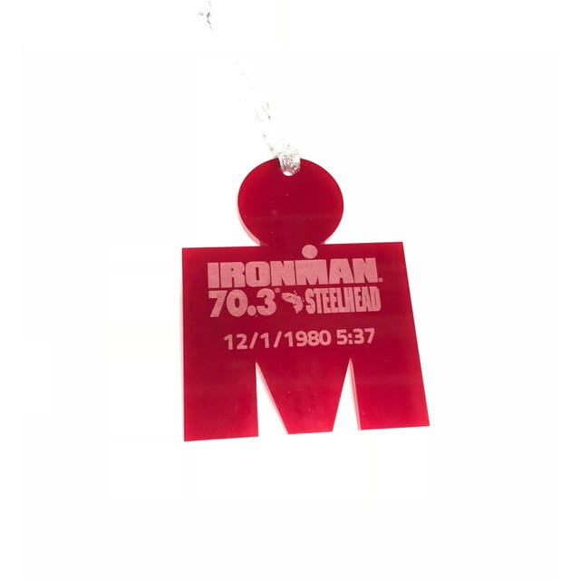 IRONMAN 70.3  M-DOT Personalized Race Ornament
