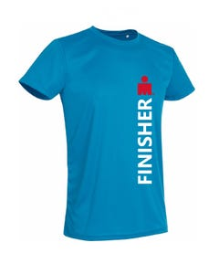 IRONMAN FINISHER  Men's Tech Tee - Blue