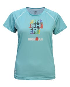 IRONMAN Zoot Women's FINISHER Tech Tee- Blue