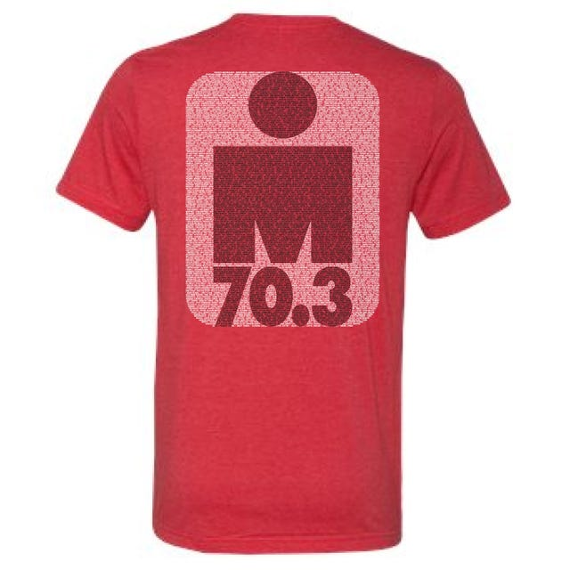 IRONMAN 70.3 Florida 2019 Men's Name Tee - Heather Red