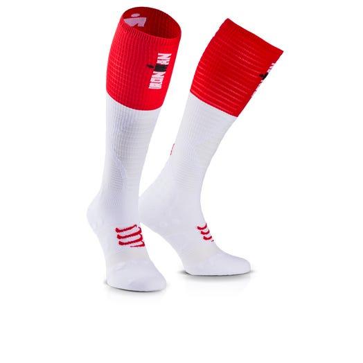 IRONMAN COMPRESSPORT Full Socks Ultralight - White Stripe