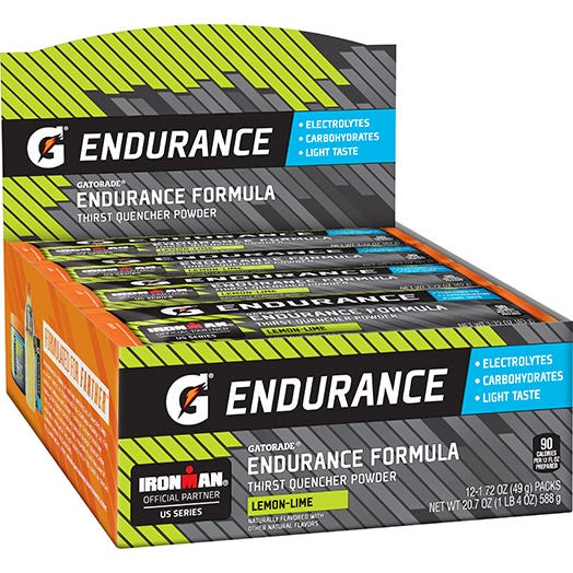 Gatorade Endurance Formula Lemon-Lime Single Serve Powder (12 single serve powder sticks)
