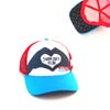 Women For Tri Swim, Bike, Run Heart Trucker Hat