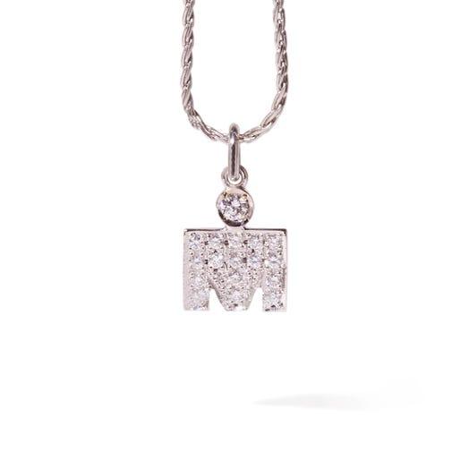 IRONMAN M-Dot 14KT Gold with Diamonds 10.9mm Pendant
