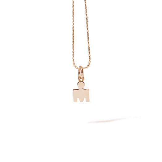 IRONMAN M-DOT YELLOW GOLD PENDANT