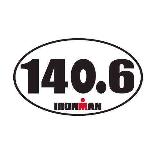 IRONMAN 140.6 OVAL STICKER