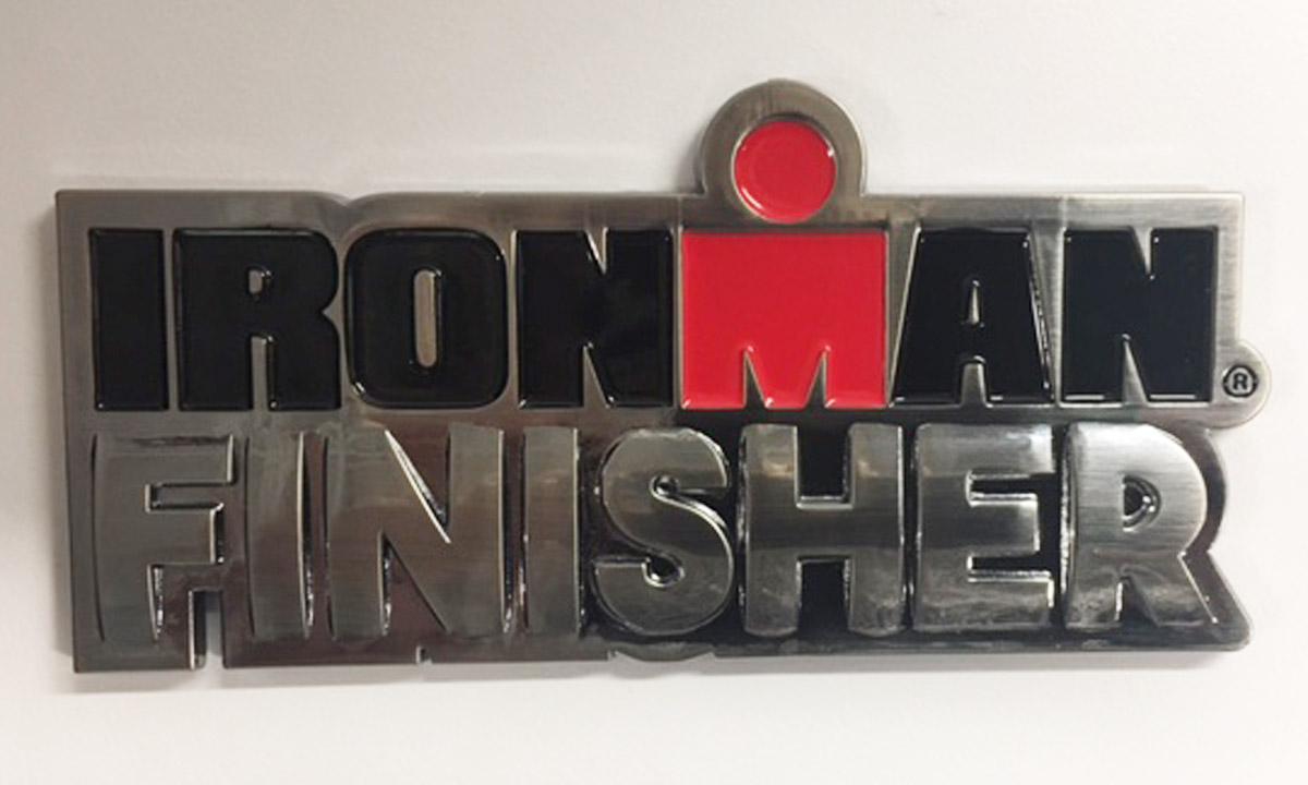 IRONMAN 4-inch Finisher Car Emblem