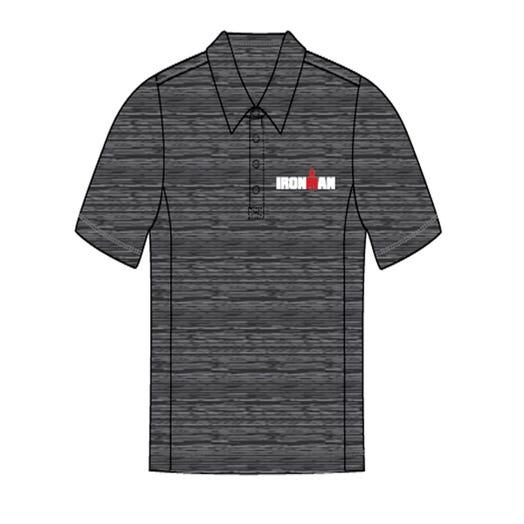 IRONMAN Men's Body Map Polo- Grey
