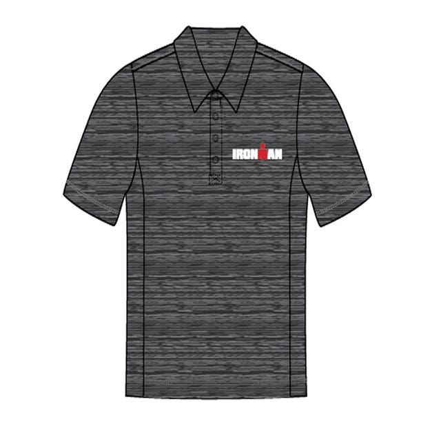 IRONMAN Men's Body Map Polo- Grey