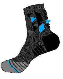 IRONMAN RPM Cycle Sock - Heather Grey